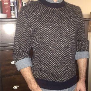 J.Crew Herringbone Wool Sweater